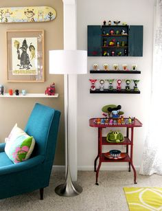 From Apt.Therapy: Sara 's Terrific Toy-Tastic Home (These guys really know how to display a collection.)
