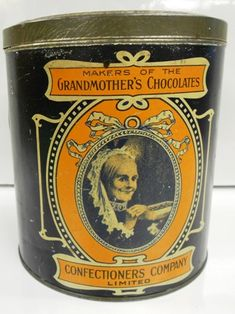 CANDY TIN. MAKERS OF THE GRANDMOTHER'S CHOCOLATES..CONFECTIONERS COMPANY LIMITED