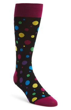 Bugatchi Multi Dot Cotton Blend Socks available at #Nordstrom