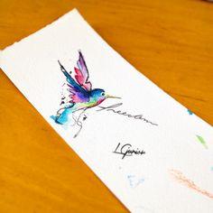 Esse pobre beija-flor está a procura de uma pele para morar • Beija-flor • #beija-flor #flor #passarinho #bird #freedom #free #watercolor #aquarela #tattoo #lcjunior