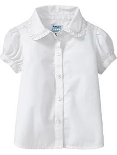 2a6200902 Ruffled-Collar Uniform Shirts for Baby | Old Navy $12.50 2T Girls Uniform  Shirts,
