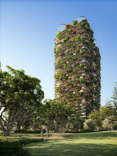 Koichi Takada Unveils World's Most Dense Vertical Gardens, for a Mixed-Use Highrise in Brisbane, Australia | ArchDaily Vertical Forest, Vertical Gardens, Brisbane Architecture, Redwood Forest California, Tourist Center, Passive Design, Brisbane Australia, Sky Garden, High Rise Building