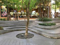 Landscape Stairs, What Is Landscape, Landscape Architecture Design, Urban Landscape, Tree Grate, Plaza Design, Landscaping A Slope, Urban Planning, Pedestrian