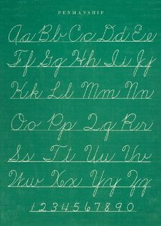 Cavallini & Co. Chalkboard Penmanship Chart Decorative Decoupage Poster Wrapping Paper Sheet