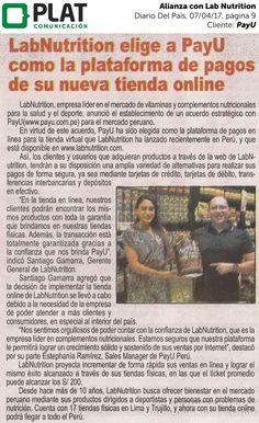 PayU: Alianza estratégica con Lab Nutrition en el diario Del País de Perú (07/04/17)