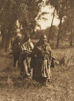 Wood Gatherers - Cheyenne (The North American Indian, v. VI. Cambridge, MA: The University Press, 1911)   by Edward Sheriff Curtis from USC Digital Library