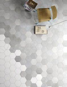 HEXAGONAL WHITE STONE TILES WALL - Google Search
