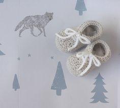 Botinhas de bebé  Botinhas em trico  sapatinhos croche