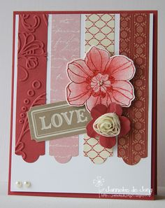 Tuesday, February 19, 2013 Janneke, Stampin Up! Demonstrator : Love Secret Garden, Aqua Painter, Hearts a Flutter framelits