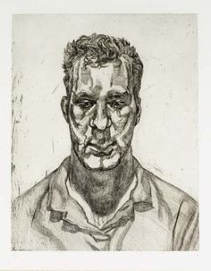 blastedheath: Lucian Freud (British, b. 1922) Kai, 1991-92. Etching, 546 x 696 mm.