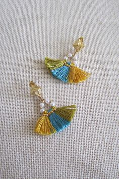 Bohemian tassel earrings Boho earrings Gypsy by MiniTasselDesigns