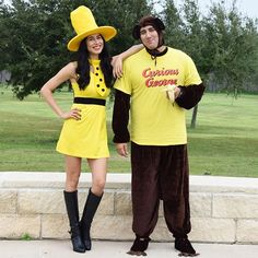 Monkeying around on the blog tonight with my Curious · Diy Couples CostumesCouple Halloween CostumesCurious George ...  sc 1 st  Pinterest & DIY Curious George and the Man with the Yellow Hat Costume | DIY ...