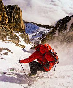 Ski touring in the Tetons