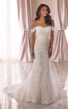 Wedding Dresses Princess 2019 6801 Romantic Lace Wedding Dress with Off-the-Shoulder Straps by Stella York.Wedding Dresses Princess 2019 6801 Romantic Lace Wedding Dress with Off-the-Shoulder Straps by Stella York Amazing Wedding Dress, Elegant Wedding Dress, New Wedding Dresses, Designer Wedding Dresses, Bridal Dresses, Romantic Lace, Trendy Wedding, Modest Wedding, Wedding Attire