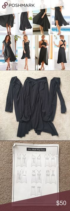 Victoria's Secret Multi-way dress •NWOT •93% polyester 7% spandex •There are instructional videos on YouTube for different styles •Super comfortable!  check out the FREE with purchase items Moda International Dresses