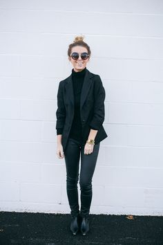 25 All-Black Outfits for Fall That are Anything But Basic | StyleCaster