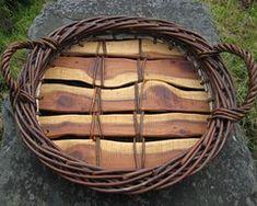 Mandy Coates - Basket Maker - Gallery Flax Weaving, Willow Weaving, Weaving Art, Basket Weaving, Bamboo Basket, Plant Basket, Garden Deco, Garden Art, Cane Baskets