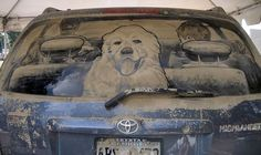 Mud + Car = Art Piece
