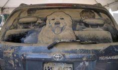 Mud + Car = Art Piece