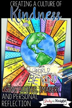 Creating a Kindness Culture Using Quotes, Imagery, and Reflection - Study All KnightAlways teach humanity in every subject. Some kids need it.English Teacher Resources for the Century Classroom Teaching Kindness, Kindness Activities, Writing Activities, Teaching Resources, Anti Bullying Activities, Anti Bullying Week, Diversity Activities, Teaching Empathy, English Activities