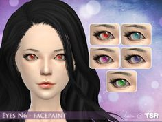 .Aveira.'s Eyes N6 – Facepaint | Sims 4 Updates -♦- Sims Finds & Sims Must Haves -♦- Free Sims Downloads