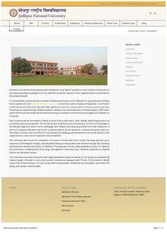 #KamalMehta #JodhpurNationalUniversity A glimpse of Jodhpur National University