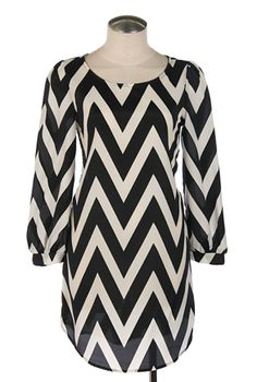The Chic Chevron Dress - Adabelle's