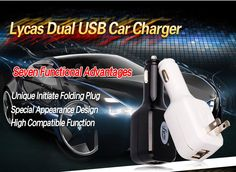 dual usb 2-IN-1 car charger (wall charger + car charger) output: DC 5v -2.1A/AC 5V-2.1A
