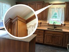How to remove the dated scalloped wood valance above a ...