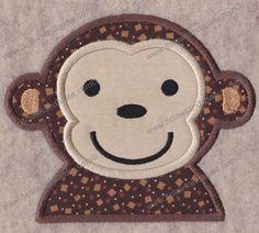 Applique Boy Monkey Design Includes 3 Sizes by 8clawsandapaw, $1.95