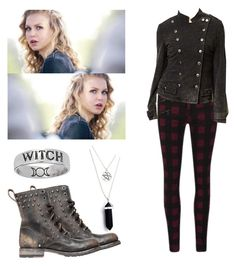 """""""Liv Parker - the vampire diaries / tvd"""" by shadyannon ❤ liked on Polyvore featuring rag & bone and Frye"""