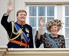 Kingdom of The Netherlands - The Hague: Queen Beatrix with her son, Crown Prince of The Netherlands Willem-Alexander. Queen Beatrix announced that she will abdicate on 30 April 2013, on Koninginnedag (Queen's Day), in favour of her eldest son Willem-Alexander, the heir apparent to the throne.   http://en.wikipedia.org/wiki/Beatrix_of_the_Netherlands