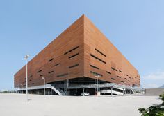 The handball arena set to host events during the Rio Olympics next month is designed to be taken down and rebuilt as schools around the city