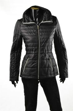 Guess Jacket Womens Outerwear NEW Packable Quilted Black Puffer Coat Sz M NWT #Guess #Puffer