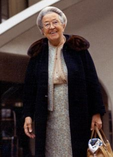 """Corrie ten Boom and her smile. Cornelia """"Corrie"""" ten Boom was a Dutch Christian. Along with her father and other family members, Corrie helped many Jews escape the Nazi Holocaust during World War II and was imprisoned for it."""