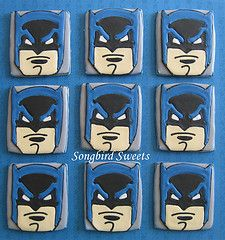 batman party cookies