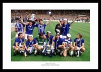 Everton FC 1984 FA Cup Final Team Celebrations Photo
