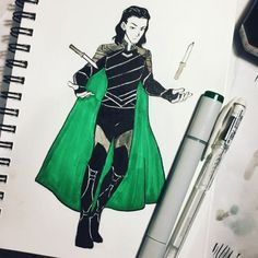 Day 3! Gotta follow up with some Loki! #inktober #lokilaufeyson #thorragnarok #avengersinfinitywar #marvel