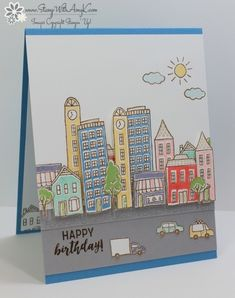 In the City Birthday Card by amyk3868 - Cards and Paper Crafts at Splitcoaststampers
