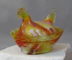 hen on nest | Boyd Hen on Nest Covered Salt in Thanksgiving Color