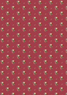 FREE printable vintage rose pattern paper