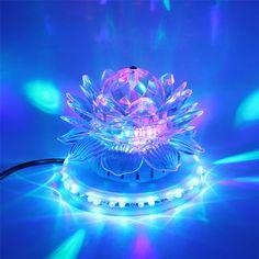 미니 RGB LED 무대 램프 자동 회전 크리스탈 매직 볼 해바라기 무대 효과 조명 램프 전구 파티 디스코 클럽 DJ 빛