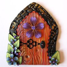 Orange Spice Fairy Door Pixie Portal