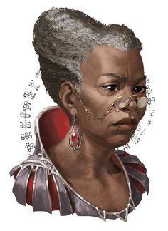 f npc noble merchant portrait Thyatis med Black Characters, Dnd Characters, Fantasy Characters, Female Characters, Character Concept, Character Art, Concept Art, Fantasy Portraits, Character Portraits