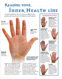 Inner health line / palmistry / palm reading / divination Palmistry Reading, Tarot Reading, Tea Reading, Reiki, Pseudo Science, Fortune Telling, Mind Body Spirit, Psychic Abilities, Book Of Shadows