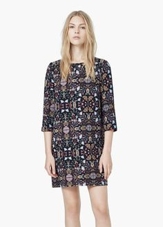 Printed shift dress | MANGO