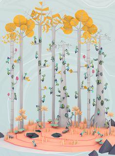 "Erwin Kho's Fantastical Digital 3D Illustrations via ""Ape on the moon"""