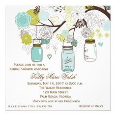 Country Rustic Mason Jar Bridal Shower Invites ShoppingReview on the This website by click the button below...