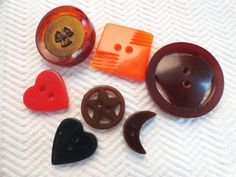 Bakelite Vintage Buttons  1940s Antique Buttons by AddVintage