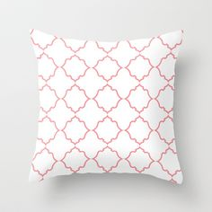 Moroccan Coral Throw Pillow by Jennifer Gibson - $20.00